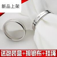S925纯银情侣戒指一对时尚男士女开口活口日韩学生创意食指小指尾戒指环