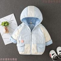 男宝宝羽绒外套女0-1-2-3岁儿童轻薄羽绒服婴儿冬装保暖外出服潮