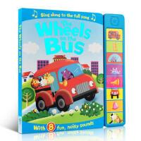 英文原版绘本有声童谣 the Wheels on the Bus 按键发声书 0-6岁