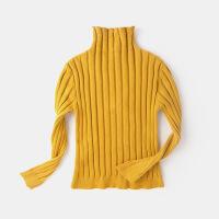 女童半高领打底衫婴儿秋冬装套头儿童保暖针织衣5女宝宝百搭毛衣