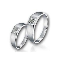 梦克拉 18K金钻石对戒 方镜 求婚戒女戒 可礼品卡购买