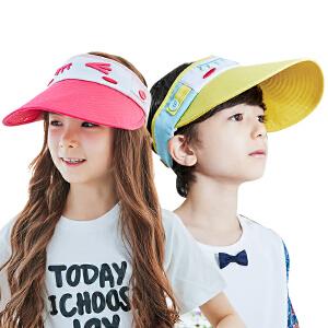 KK树17年新款儿童空顶帽防晒帽春夏男女童帽子宝宝遮阳帽太阳帽潮