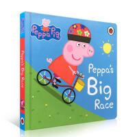 【全店300减100】英文绘本Peppa Pig: Peppa's Big Race 纸板书 粉红猪小妹