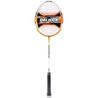 [包邮]得力F2106羽毛球拍 一体羽毛球拍 铝碳强耐打单拍一只装 体育用品