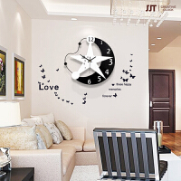 潮流北欧个性挂钟客厅时尚现代简约电子时钟静音卧室钟表装饰