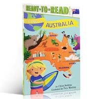 【全店300减100】英文原版绘本 Living in . . . Australia 生活在澳大利亚 5-7岁儿童分级