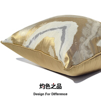 现代香槟金美式欧式别墅样板间软装卧室沙发抱枕