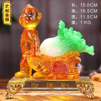 猴年吉祥工艺品财运到生肖猴子摆件生日贺寿礼品定制纪念品 MJ金猴送财运到