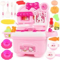 儿童过家家厨房玩具煮饭做饭仿真厨具宝宝购物车男女孩玩具套装