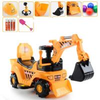 挖土机挖掘机儿童玩具可坐可骑大号四轮男孩人玩具车铲车勾机挖机