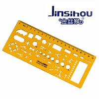 Jinsihou金丝猴4360 电工模板尺/窄 耐折不易断建筑家具模板学生设计裁剪用透明K胶有机塑料尺子绘图制图仪尺