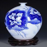 家居客厅装饰品工艺摆件陶瓷器手绘青花瓷花瓶插花