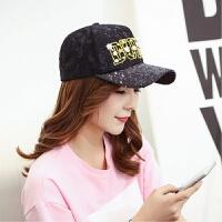 韩版棒球帽遮阳帽子女士春秋季户外运动太阳帽休闲鸭舌帽夏天 可调节