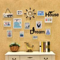 创意相框挂墙组合连体挂欧式照片墙装饰夹子悬挂无痕钉客厅相片墙