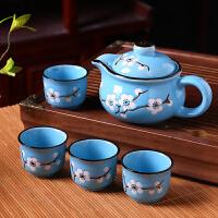 茶具套装 家用简约陶瓷功夫茶具茶杯茶壶套装一壶6杯