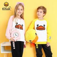 【4折价:171.6】B.duck小黄鸭童装 儿童套装冬季新款男女童加厚卫衣两件套BF5081905