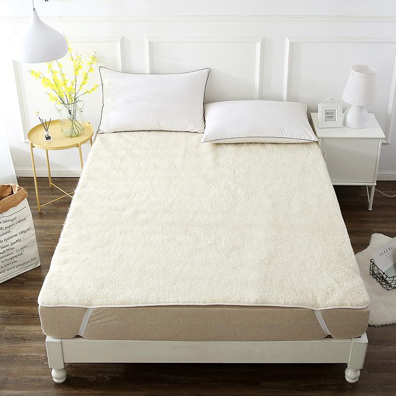 当当优品羊羔毛床垫 纯羊毛全棉防潮床垫 单人床褥120*200cm当当自营