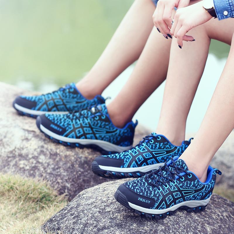 徒步鞋男芝佳骆驼越野跑鞋春季登山鞋防滑户外鞋女鞋透气