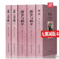 【中文完整版】列夫托尔斯泰小说全集全3种5册全译本无删减 安娜卡列尼娜 复活 战与争和平世界名著书籍套装小说