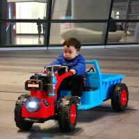 新款儿童电动车可坐人电动手扶拖拉机儿童玩具车充电音乐灯光童车儿童坐玩电瓶车男女宝宝小汽车 红色