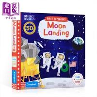 【中商原版】小小探索家:登月 First Explorers:Moon Landing 机关操作书 亲子绘本 纸板书 趣