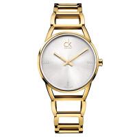 CK卡文克莱(CalvinKlein)手表STATELY系列女表简约时分针夜光黑盘钢带石英表K3G23121