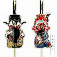 中国风特色礼品送老外出国小礼物京剧脸谱书签北京故宫纪念手工艺