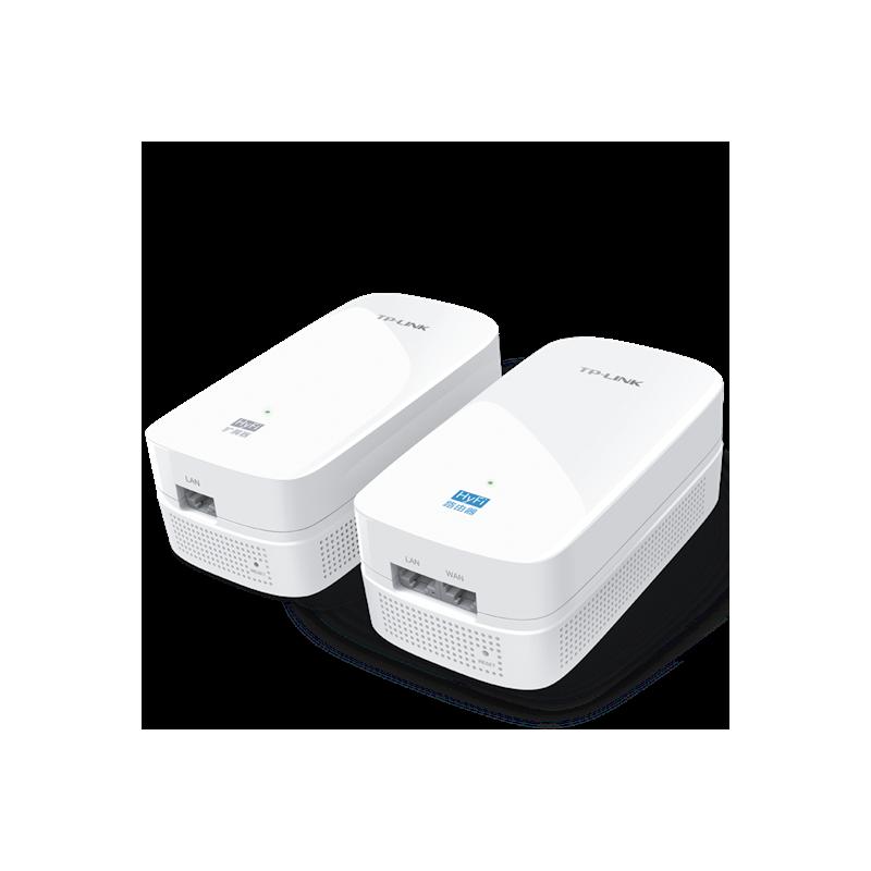 TP-LINK HyFi智能无线路由器套装 11AC 900M双频 (TL-H69R&TL-H69ES) 电力线传输扫除盲点,高速双频适合任意户型