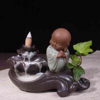 小和尚陶瓷倒流香炉家用香薰炉檀香炉香道用具