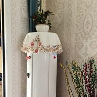 布艺绣花盖布圆空调罩立式机柜机套防尘圆柱圆形格力美的简约现代
