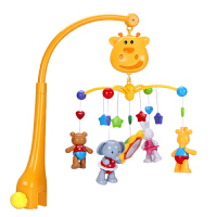 新生儿音乐旋转床铃 宝宝0-3-6-12个月1岁婴儿玩具摇铃床头铃