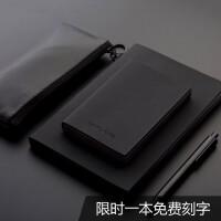 简约A5/A7创意日记本黑磨砂空白便携记事本随身口袋笔记本子定制