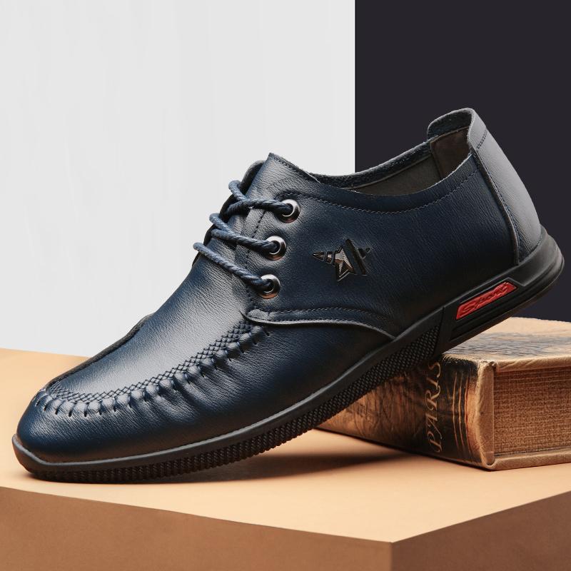 承发 休闲男士时尚软底系带耐磨商务休闲皮鞋子男 26228 过年大放价,来宜驰,就够了!