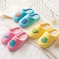 儿童棉拖鞋男女宝宝休闲鞋小孩公主冬天可爱卡通室内包跟防滑保暖家居鞋