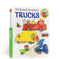 理查德・斯凯瑞卡车 英文原版 Richard Scarry's Trucks 纸板故事书