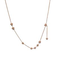 高品质玫瑰金色极简百搭流星星短款钛钢项链锁骨链 玫瑰金