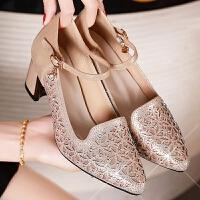 女式中跟高跟舞蹈鞋软底广场舞女鞋跳舞凉鞋夏季新款拉丁舞鞋