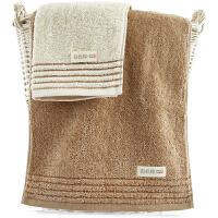 三利 有机棉毛巾2条装 34×76cm 纯棉柔软吸水洗脸巾