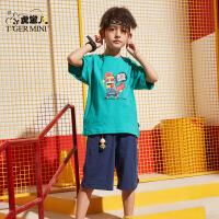 【2件3折到手价:44.4元】小虎宝儿男童t恤短袖潮中大童韩版2020夏季新款儿童半袖上衣洋气