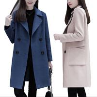 【大厂直供 】【超值爆款】毛呢大衣女中长款宽松显瘦双面呢大衣2018秋冬新款赫本风毛呢外套