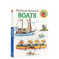 英文原版 Richard Scarry's Boats斯凯瑞童书:船 亲子阅读 启蒙幼儿纸板书