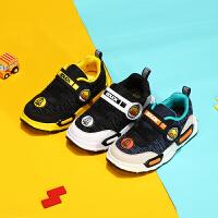 【4折价:95.6】B.Duck 小黄鸭男童运动鞋 新款男童透气软底休闲鞋学生潮鞋B3083933