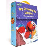 My Growing-Up Library (Sesame Street) 英文原版 芝麻街:我长大了四本合集 纸板书