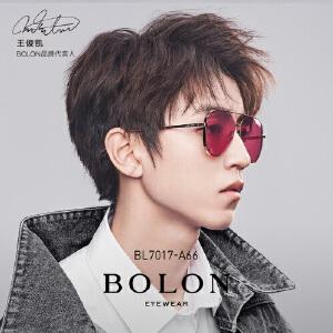 BOLON暴龙2018新款男女复古框金属镜太阳镜BL7017王俊凯同款
