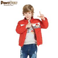 【秒杀价:135】Pawinpaw宝英宝卡通小熊童装男童白鸭绒羽绒服儿童连帽保暖外套