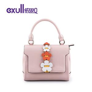 依思q2018新款时尚小方包可爱花卉手提包甜美单肩斜挎包