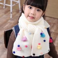 韩国冬季中大童保暖儿童加厚毛线围巾韩版女童可爱公主女孩围脖潮围巾
