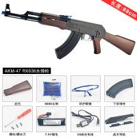 ak47巴雷特枪98k儿童绝地求生玩具枪m249金属可发射八倍镜可发射仿真抛壳m416突击步抢水晶弹 仁详AK47