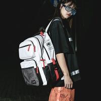 ifashion书包女韩版原宿ulzzang 高中学生背包多层大容量潮双肩包