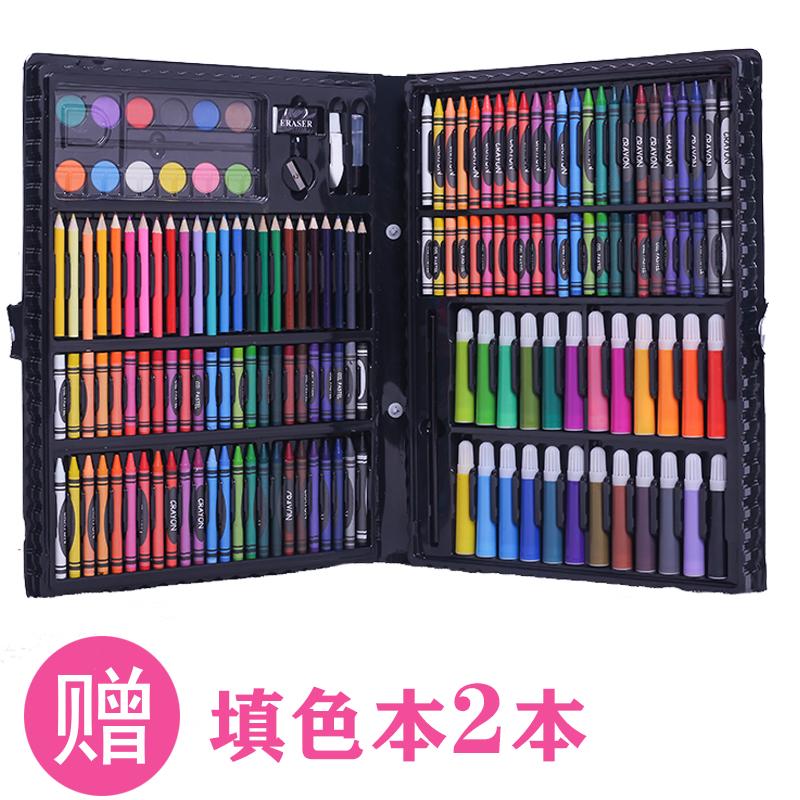 水彩笔套装儿童画画笔学生无毒可水洗初学者美术宝宝幼儿园彩色笔